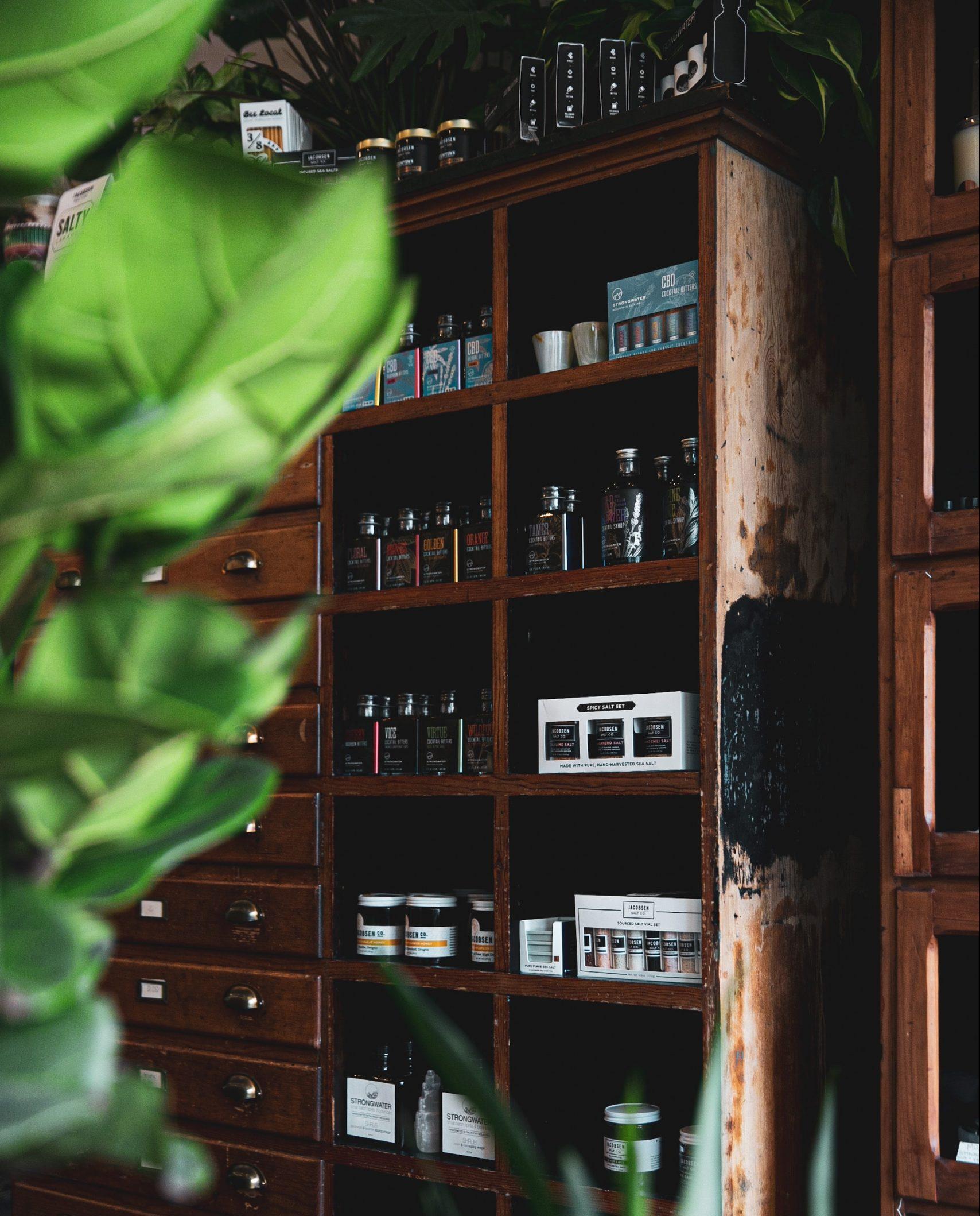un armadio per conservare i cosmetici